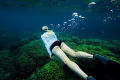 Женщина и море