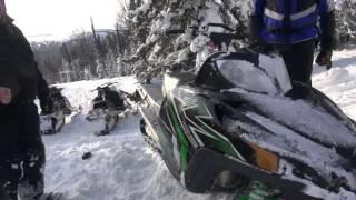 Эвакуация снегохода в Приисковом