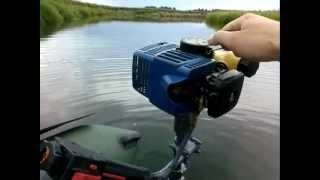 Самодельный лодочный мотор из бензопилы и бензокосы