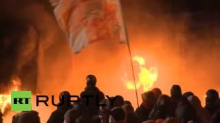 Беспорядки в Киеве продолжались до поздней ночи