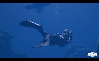 ArmA 3 подводный бой.
