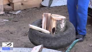 Один из лучших способов как колоть дрова.