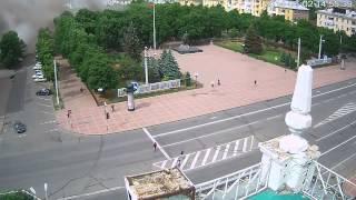 Момент авиаудара по зданию обладминистрации Луганска
