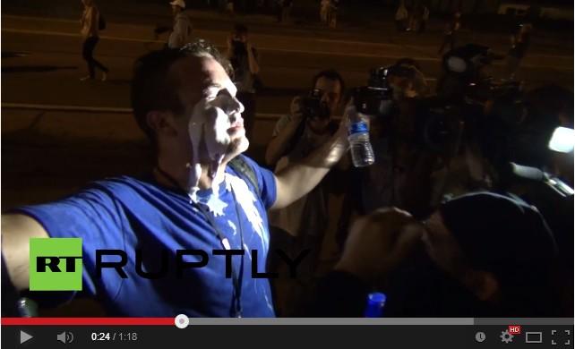 В Фергюсоне полиция применила слезоточивый газ