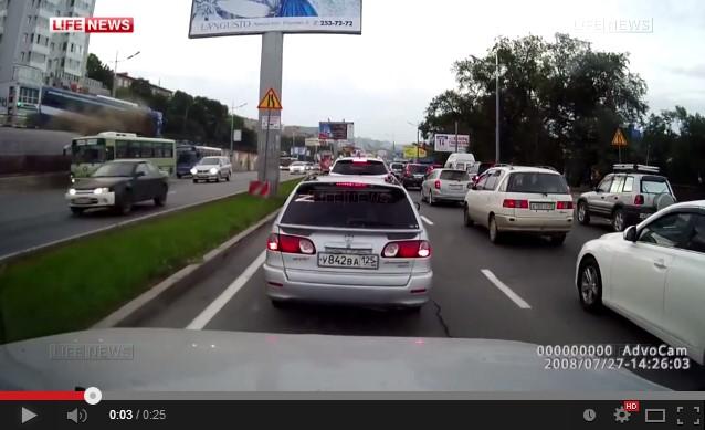 Крушение автобуса во Владивостоке видео
