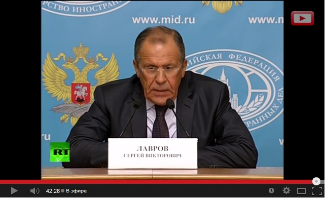 Пресс-конференция Сергея Лаврова 25.08.2014