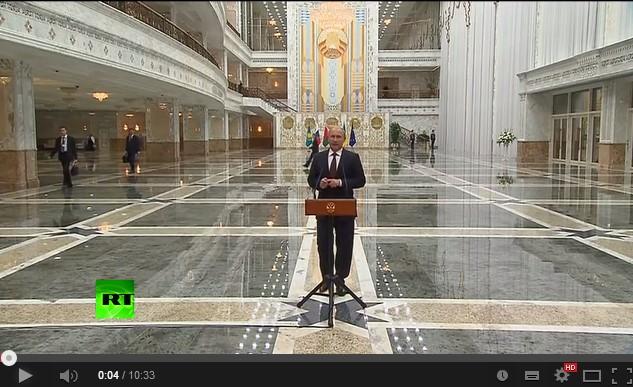 Владимир Путин о переговорах в Минске 27 08 2014