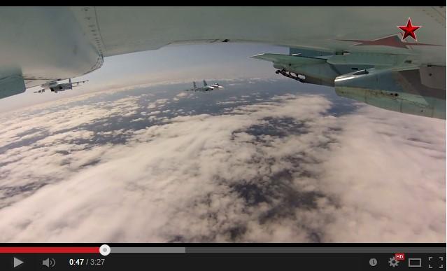 Полет Су-33 и Су-25 над Североморском