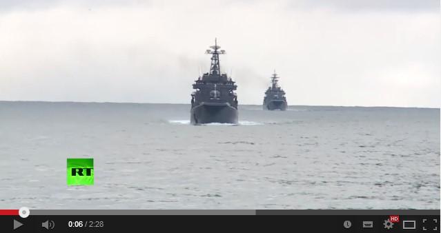 Корабли ВМФ России идут в Арктику