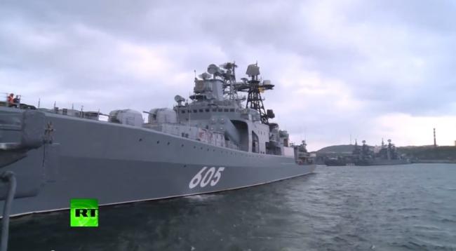 Корабли Северного флота взяли курс на Арктику