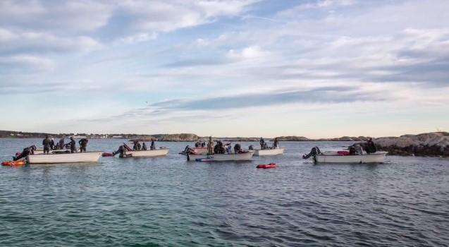 Соревнования по подводной охоте в Норвегии о.Хитра