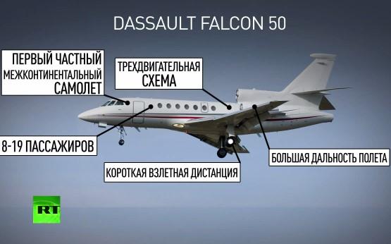 Самолет Dassault Falcon 50 разбился 21 октября
