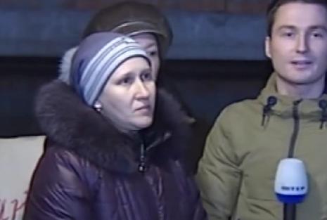 Женщине из Дебальцево в прямом эфире Интера