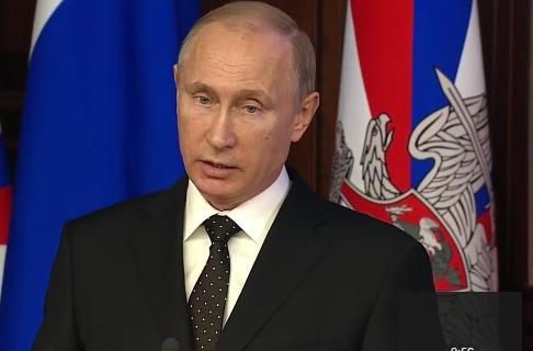 Владимир Путин принимает участие в заседании Минобороны