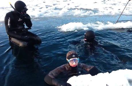 Зимняя рыбалка подводные съёмки