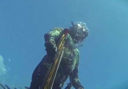 Подводная охота на море Банда