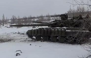 Танковые учения батальона Август в Новороссии