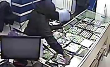 Ограбление магазина Яшма Золото в Москве (видео)
