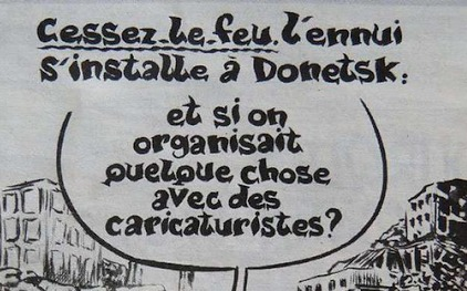 Шарли Эбдо опуликовал карикатуру на Донецк