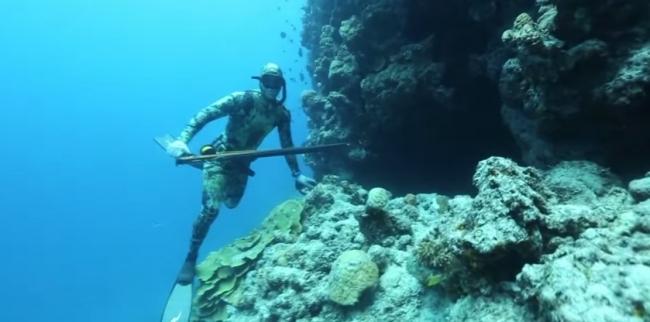 Подводная охота по взрослому