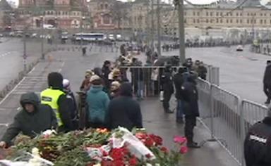трансляция: Траурный марш в Москве 01.03.2015
