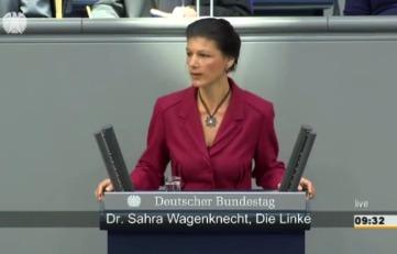 Сара Вагенкнехт вновь жжёт Меркель правдой.