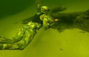 Подводная охота на Волге (Март)