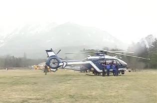 Видео спасательной операция в районе крушения Airbus A320