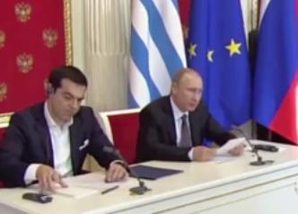 Пресс-конференция Владимира Путина и Алексиса Ципраса