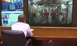 Прямая линия с космонавтами Михаилом Корниенко и Скоттом Келли