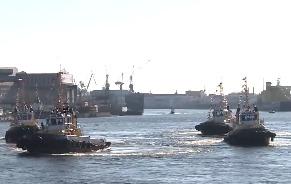 Видео: фестиваль ледоколов в Санкт-Петербурге