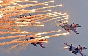 Воздушная репетиция парада в Москве