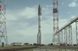 Вывоз Протон-М с космическим аппаратом MexSat-1
