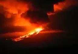 Извержения вулкана на Галапагосских островах