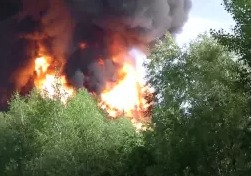 Взрыв нефтебазы БРСМ г. Васильков 9 июня