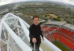 Джеймс Кингстон первым в мире покорил арку стадиона Уэмбли