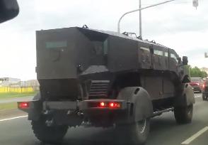 Автолюбители засняли новейшие бронеавтомобили Каратель и Викинг