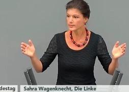 Речь Сары Вагенкнехт в бундестаге Германии