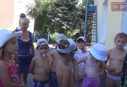 Дети России детям Донбасса. Передача гуманитарной помощи.