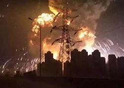 Взрыв в Китае на нефтехимическом заводе Тяньцзинь