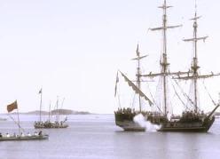 7 августа 1714 года гребной флот Петра 1 нанёс поражение отряду шведских парусников у мыса Гангут