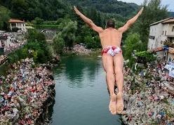 Соревнования по хай-дайвингу в Мостаре