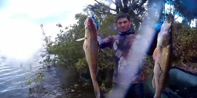 Илдар Сибгатуллин: Экстремальная подводная охота в глухом коряжнике