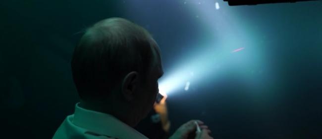 Съемка из батискафа с Владимиром Путиным