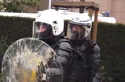 В Брюсселе фермеры закидали полицию яйцами