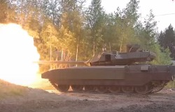Выстрел танка Армата