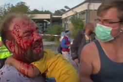 Разгон мигрантов на сербско-венгерской границе