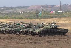 Подготовка танкового биатлона в ДНР и ЛНР