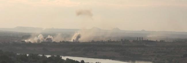 Танковая атака ВСУ на Старомихайловку