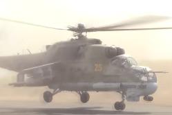 Ми-24 несут боевое дежурство на авиабазе в Сирии